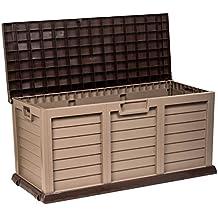 Catral 63010032 - Baúl con asiento grande, 141 x 61 x 71.6 cm, color marrón