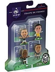 Soccerstarz - 400570 - Figurine - Sport - Le Pack De 4 Figures Officielles De L'équipe De France Clichy/lloris/rémy/ribéry Dans Leur Tenue D'équipe De France À Domicile