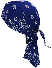 Bandana Cap Pañuelo Paisley Azul Oscuro