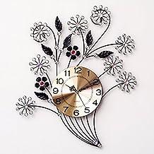 Pendule murale fer forge for Horloge en fer forge noir