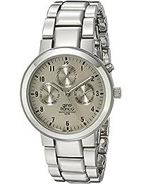 gino franco Men's 921SL Round Stainless Steel Multi-Function Bracelet Watch