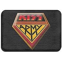 Kiss Rock música ejército Felpudo y perro alfombrilla, 40cm 60cm antideslizante Doormats, apto para uso en interiores y exteriores. Baño Cocina felpudo y mascotas