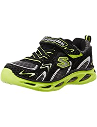 Skechers Boy's Ipox - Rayz Black And Lime Sports Shoes