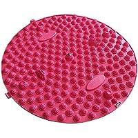 Runde Fußmassager-Therapie-Matten-Fuß-Massage-Auflage Shiatsu-Blatt [Rot] preisvergleich bei billige-tabletten.eu