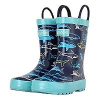 CasaMiel Kids Rain Boots for Toddlers Unisex Rain Boots for Boys&Girls, Handmade Natural Rubber Boots for Children