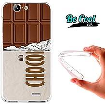 Becool® Fun - Funda Gel Flexible para Huawei Ascend G7 .Carcasa TPU fabricada con la mejor Silicona, protege y se adapta a la perfección a tu Smartphone y con nuestro diseño exclusivo Tableta de chocolate