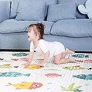 Baby Play Mat 180 * 160cm Foldable Foam Padded Kids Playmat Double-Sided Crawling Mat Waterproof Non Slip Kids