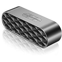 Bluetooth V4.2estéreo Subwoofer, joxira 5W Dual conductor altavoz Bluetooth, sonido potente con graves mejorados, manos libres llamadas, funciona con iPhone, iPad, Nexus, portátiles y más