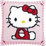 Vervaco - Cojín de punto de cruz, diseño de Hello Kitty, multicolor