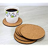 KLEO - Bar Beer Coffee Cork Coasters Set (Set Of 6) - Long Lasting, Heat Resist, Absorbs Spilled Liquid, Non Slippery And Scratch Free