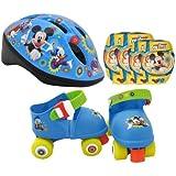 STAMP - DISNEY - MICKEY - J100015 - Accessoire pour Finger Bike - Set Casque + Genouillères + Coudières + Patins 4 roues  - Mickey