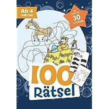 100 Rätsel für Jungen ab 4 Jahren: Mit mehr als 30 Stickern