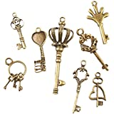 40 Assortiment Breloques/Charms Assorti Clef Antique Bronze Alliage DIY Perles Fabrication De Bijoux Accessories