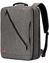 """Soarpop WB9881 Sac à dos pour ordinateur portable, sac pour ordinateur portable, sac croisé (17.3"""" Gris)"""