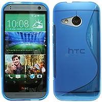 HTC One Mini 2 // Silikon Hülle Tasche Case Gummi Schutzhülle Zubehör in Blau @ Energmix
