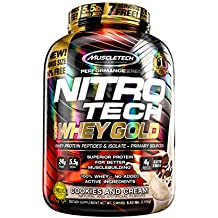 Performance Series Nitro-Tech 100% Whey Gold 6 lb (2721g) Biscotto e crema