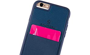 Sinjimoru Coque iPhone 6 / 6s avec Porte-Cartes, étui pour Carte iPhone 6 / 6s ou étui Portefeuille pour iPhone 6 / 6s avec Porte-Cartes. Etui Sinji Pouch pour iPhone 6 / 6s, Marine