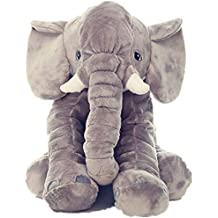 Kenmont Mignonne Animal Jouets en peluche Elephant Oreiller Corps / cou / Back Support / lombaire Oreillers Sommeil Oreiller Coussin Poupée souple pour Bébé Toddler Enfants 100% coton