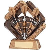 tecnocoppe trofeo premiazione dardos/Darts 16,50cm H placa personalizada compresa