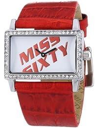 Miss Sixty Just time SJ9002 - Reloj de mujer de cuarzo, correa de piel color rojo