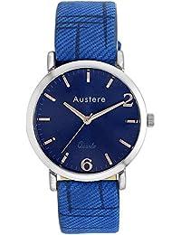 Austere Men Oxford Analog Blue Dial Men's Watch - MOX-0303