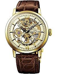 Orient Star insignia esqueleto Potencia reserva esférica Sapphire dorado  reloj dx02001 C f74bde142878