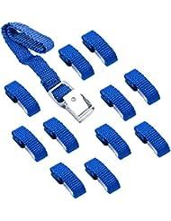 PRO PLUS Sangles de fixation pour vélo bretelles Bleu Lot de 1240cm Métal Boucles