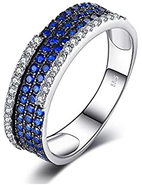 JewelryPalace 0.81ct Synthetiche Blauer Spinell Traube Cocktail Ring 925 Sterling Silber