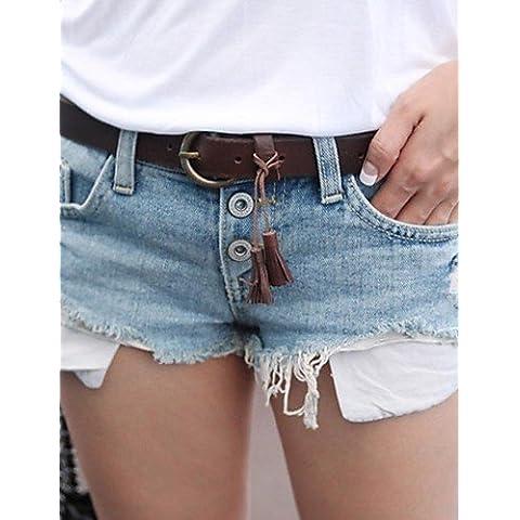 ZY/ vita bassa denim sexy pantaloni corti di sagetech?women , light blue-l , light blue-l