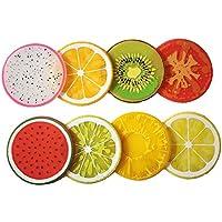 Demarkt Posavasos de Color de Frutas Posavasos de Aislamiento de Calor 8PCS