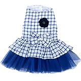 Vestido pequeño para perro, pequeño, diseño de flores, tutú y tutú (apto para mascotas pequeñas)