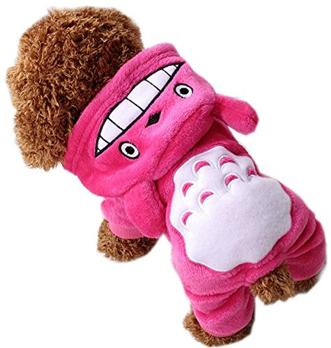 systond Winter Pet Totoro Kostüm für Hunde Haustier Kleidung Bekleidung Overall Kleine Hunde Katzen (Niedlich Kostüme Totoro)