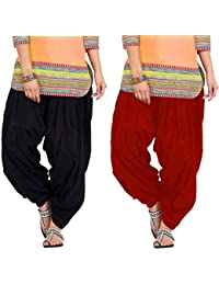 Crafts 100% Pure Solid Cotton Semi Patiala Salwar Bottoms Indoor Outdoor For Women's & Girls( Free Size , Color... - B0762JMNC9