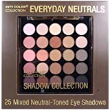 (3 Pack) CITY COLOR Collection Everyday Neutrals Eye Shadow Palette