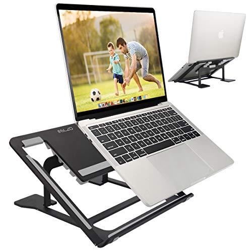 ELZO Laptop Ständer - Multi-Angle-Standfuß Aluminium Einstellbares Notebook Ständer kompatibel für Laptop 10-17.3 Zoll Tablet/MacBook/Tab, Microsoft Surface Pro