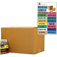 UBOXES cajas pequeñas para mudanza, paquete de 15 unidades, 40,6 x 25,4 x 25,4 cm y etiquetas para mudanza.
