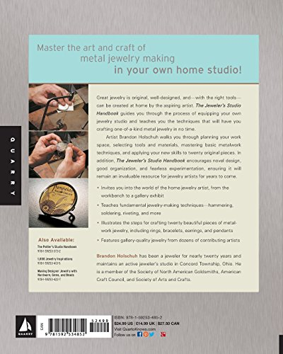 Jeweler's Studio Handbook: Traditional and Contemporary Techniques for Working with Metal, Wire, Gems, and Mixed