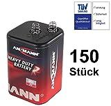 Blockbatterie Trockenbatterie Batterie Typ 4R25 Campingbatterie 6Volt 9Ah Baustellenbatterie für Handlampe Baustellenlampe Campingleuchte Blinkleuchte Warnlampe (150)