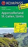 Appenzellerland - St. Gallen - Säntis: Wanderkarte. GPS-genau. 1:40000 (KOMPASS-Wanderkarten, Band 112)