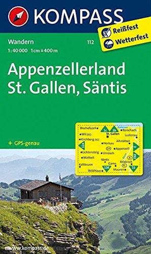 Preisvergleich Produktbild Appenzellerland - St. Gallen - Säntis: Wanderkarte. GPS-genau. 1:40000 (KOMPASS-Wanderkarten, Band 112)