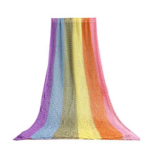 Yangge Yujum Regenbogen-Farben aus Reiner Baumwolle Dehnbare Neugeborene Baby-Wrap Blanket Teppich Foto Background Prop