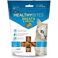 VetIQ Healthy Bites - Bocaditos para el cuidado de los dientes y el aliento para gatos y gatitos