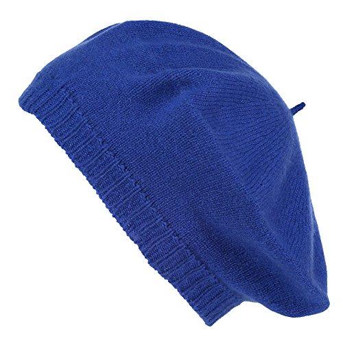 ScotlandShop Damen Baskenmützen Gr. Einheitsgröße, königsblau (Cashmere Knit Beret)