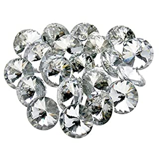 ENET 20 Pcs Acrylic Crystal Diamante Gems 20 X 25mm Crystal UPHOLSTERY Buttons