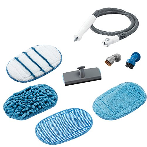 Black+decker fshsma-xj set di accessori per sistema di pulizia a vapore steamitt portatile, bianco/acqua/grigio