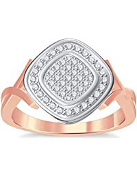 Silvernshine 10K Rose Gold Filled 1.35ctt Round Cut Simulated Diamonds Women's Engagement Ring