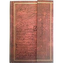 Notizbuch / Tagebuch: Edle Schriften, braun, liniert, A5, mit Magnetverschluss, Hardcover