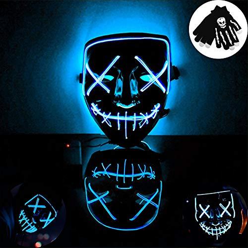 Kungfu Mall Máscara luz LED Máscara Brillante Horror