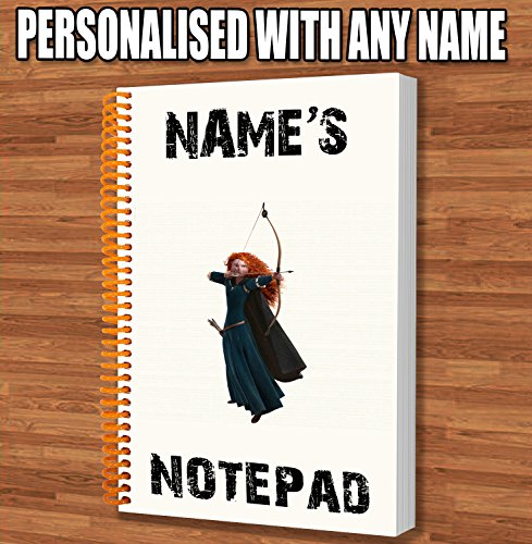 merida-brave-personalised-gift-a5-notepad-notebook-drawings-doodles-diary-notes