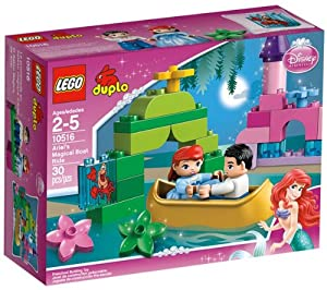LEGO Duplo Princess - Ariel's Magical Boat Ride - 10516 10516 (Plan a magical boat ride for Ariel and the charming Prince Eric! Help them spend a sunny day floating past the pretty pink castle in the golden boat… )